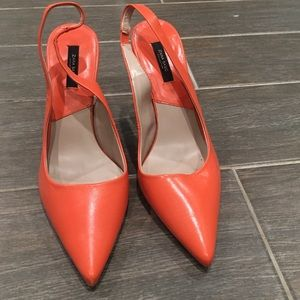 Zara heals, orange, never worn, size 39